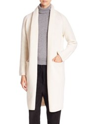 Vince Wool And Yak Open Front Cardigan Winter White Black