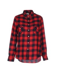 Franklin And Marshall Shirts Shirts Women Red