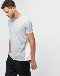 Asos T Shirt In Relaxed Skater Fit With Panelling In Grey Grey Marl White