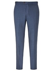 John Lewis Woven In Italy Wool Jaspe Tailored Suit Trousers Airforce Blue