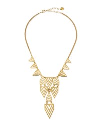 Jules Smith Designs Jules Smith Geometric Print Bib Necklace Gold