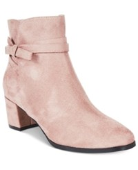 Impo Eman Block Heel Booties Women's Shoes Taupe