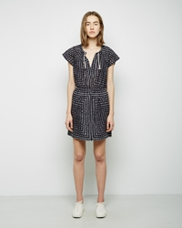 Band Of Outsiders Floral Print Minidress Black