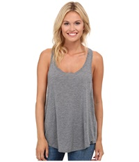 Hurley Solid Dri Fit Tank Top Carbon Heather Women's Sleeveless Gray