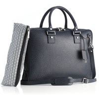 Mark Giusti Milano Essential Laptop Bag Navy Blue