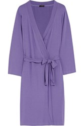 Cosabella Talco Stretch Jersey Robe Purple