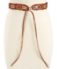Styleandco. Style And Co. Reversible Ladder Tie Waist Belt Only At Macy's Gold Brown