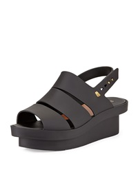 Melissa Shoes Melissa Style Jelly Wedge Black