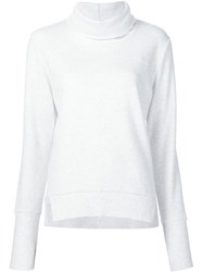 Alo Yoga Roll Neck Sweatshirt White