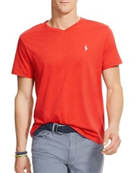 Polo Ralph Lauren Jersey V Neck Tee Red