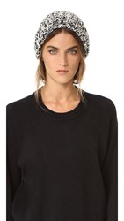 Rag And Bone Sandra Beanie White Black