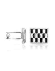 Forzieri Black And White Crystal Cufflinks