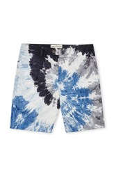 French Connection Tie Dye Highway Shorts Midnight