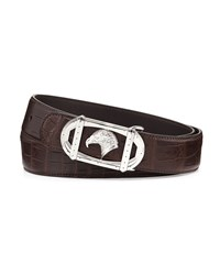Stefano Ricci Eagle Head Crocodile Belt Brown Brn