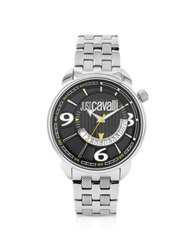 Just Cavalli Earth Black Dial Date Watch