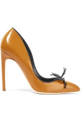 Rupert Sanderson Rael Leather Pumps Matte Gold