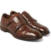 Officine Creative Princeton Leather Monk Strap Shoes Brown