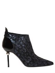 Roger Vivier 95Mm Sphere Patchwork Suede Boots