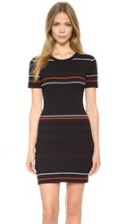 Public School Cable Dress Black Orange