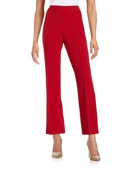 Nipon Boutique Straight Leg Dress Pants Red
