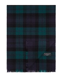 Bloomingdale's The Mens Store At Bloomingdales Blackwatch Cashmere Scarf Navy Green