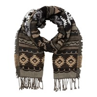 East Aztec Woven Scarf Cocoa