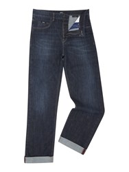 Hugo Boss Alabama Loose Comfort Fit Dark Wash Jean Blue