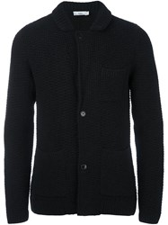 Closed Patch Pockets Cardigan Black