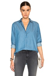 Mih Jeans Flight Top In Blue