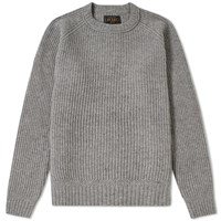 Beams Plus Rib Crew Knit Grey