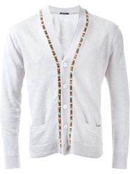 Guild Prime Beaded Fastening Button Down Cardigan Grey