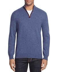 Bloomingdale's The Men's Store At Cashmere Mockneck Sweater Cool Blue