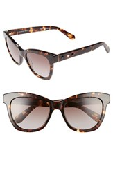 Kate Spade Women's New York 'Krissy' 52Mm Cat Eye Sunglasses Havana