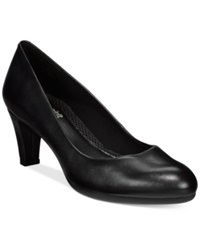 Easy Spirit Neoma Pumps Women's Shoes Black Leather