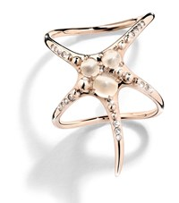 Cristina Ortiz Starfish Double Rose Gold Ring Female Silver