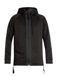 Adidas By Day One Lightweight Hooded Quilted Jacket Black