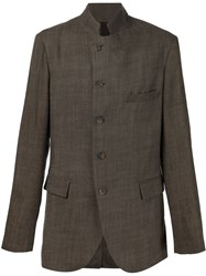 Forme D'expression High Collar Blazer Grey
