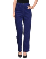 Rose' A Pois Casual Pants Blue