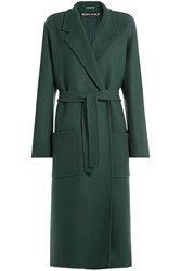 Rochas Virgin Wool Coat Green