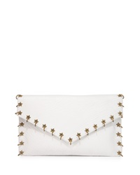 Ash Frankie Ring Stud Lambskin Clutch Bag Off White