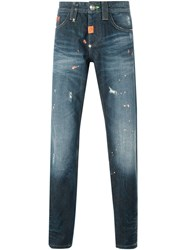 Philipp Plein 'Dotted' Jeans Blue