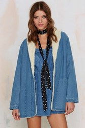 Nasty Gal Rolla's Beach Party Sherpa Coat