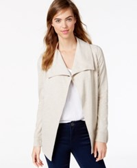 Kensie Ponte Knit Snap Jacket A Macy's Exclusive Style Heather Latte