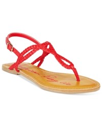 American Rag Keira Braided Flat Sandals Only At Macy's Women's Shoes Berry
