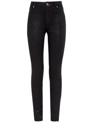 Ted Baker Aissata High Waisted Wax Finish Jeans Black