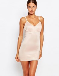 Smooothees Strappy Shaping Slip Dress Nude Beige