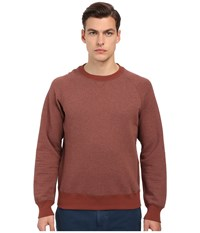 Billy Reid Quilted Crew Brick Red Men's Sweatshirt