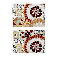 Missoni Home Bianconero Rectangular Placemat Set Of 2 Beige