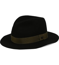 Rag And Bone Trimmed Wool Fedora Black