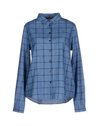 Le Mont St Michel Denim Denim Shirts Women Blue